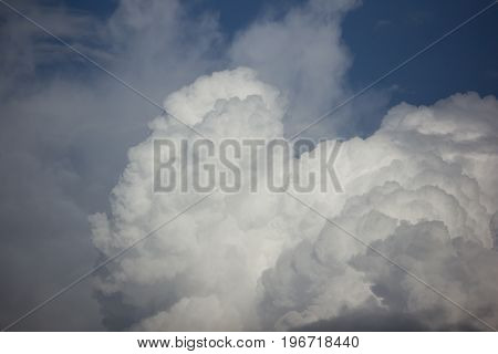 White and Blue Cloud Scape Cloud from Tropical Sky.