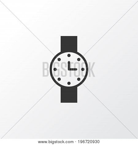 Premium Quality Isolated Timer Element In Trendy Style.  Watch Icon Symbol.