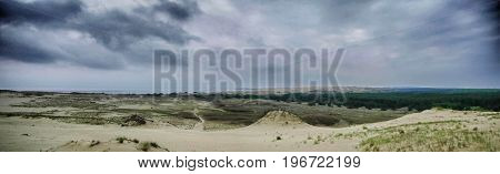Grey dunes in the fall time. Curonian Spit Lithuania.