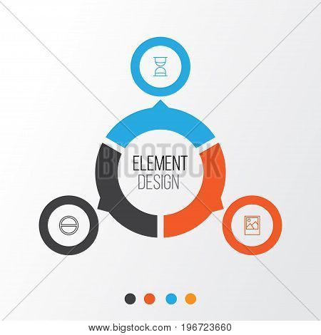 Internet Icons Set. Collection Of Hourglass, Image, Refuse And Other Elements