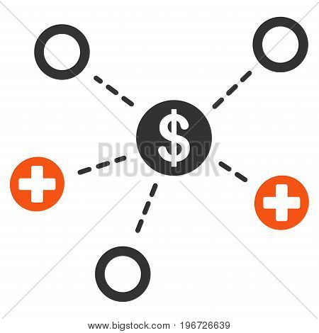 Financial Medical Relations vector icon. Style is flat graphic symbol.