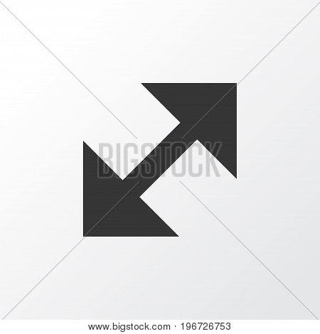 Premium Quality Isolated Change Element In Trendy Style.  Resize Icon Symbol.
