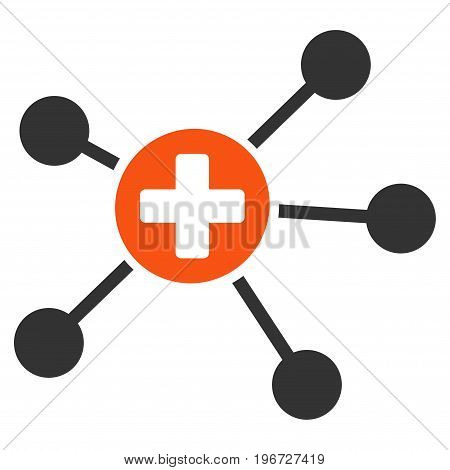Health Care Links vector icon. Style is flat graphic symbol.
