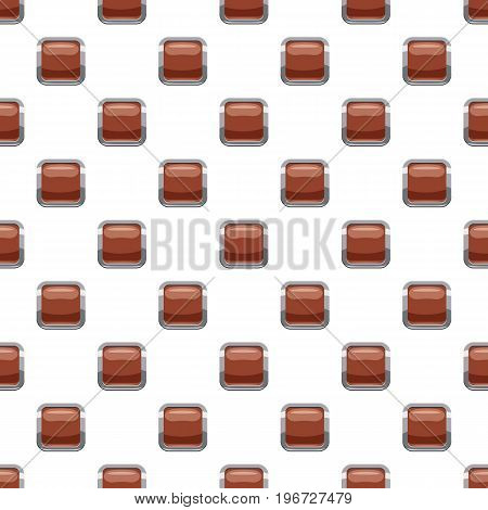 Broun square button pattern seamless repeat in cartoon style vector illustration