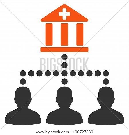 Medical Bank Clients vector pictograph. Style is flat graphic symbol.