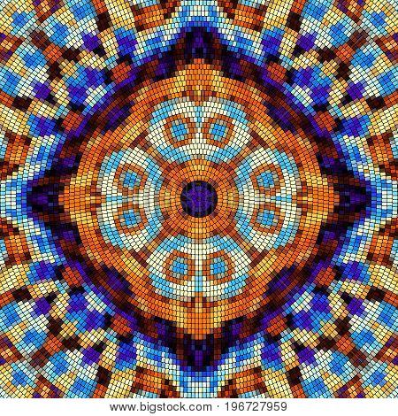 Seamless background pattern. Decorative geometric mosaic art pattern.