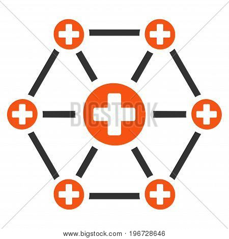Medical Network vector pictograph. Style is flat graphic symbol.