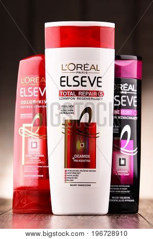 Composition With Three Containers Of L'oreal Products
