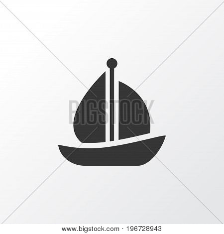 Premium Quality Isolated Sailboat  Element In Trendy Style.  Sail Ship Icon Symbol.