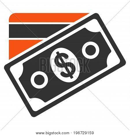 Money vector pictogram. Style is flat graphic symbol.