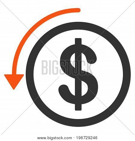 Refund vector pictograph. Style is flat graphic symbol.