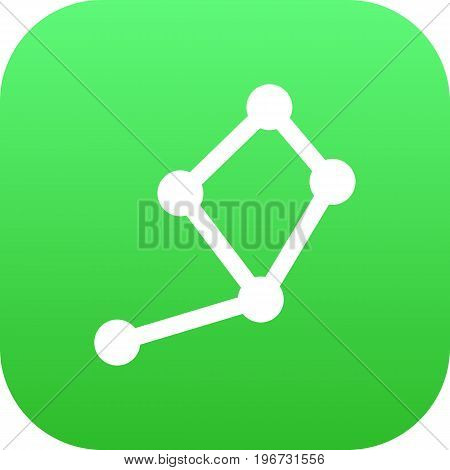 Vector Horoscope Element In Trendy Style.  Isolated Constellation Icon Symbol On Clean Background.