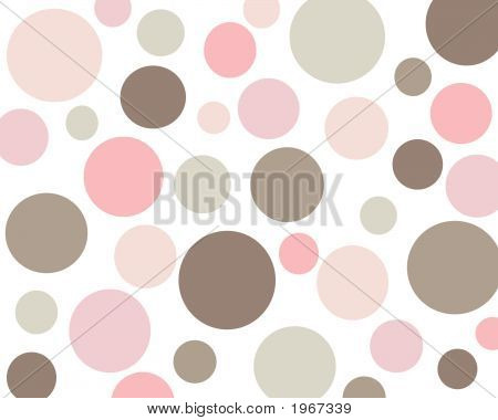 Retro Pink And Brown Polkadot Background