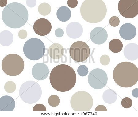 Retro Brown And Blue Polkadot Background