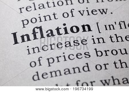 Fake Dictionary Dictionary definition of the word inflation.