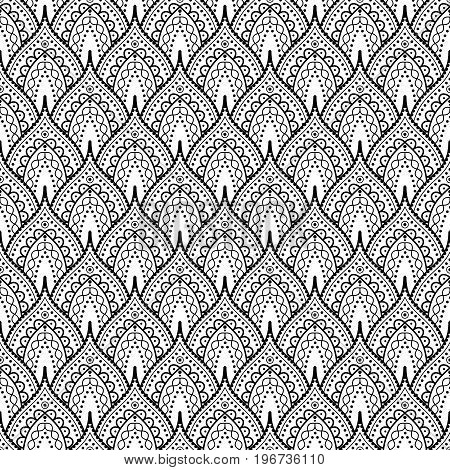 Seamless background pattern. Abstract vector ornamental pattern.