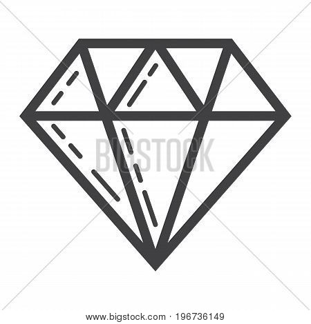 Diamond line icon, business and finance, gem sign vector graphics, a linear pattern on a white background, eps 10.
