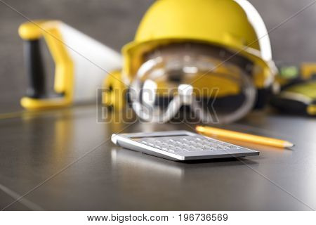 Contractor. Builder. Constructor. Concept. Business. Place for typography.