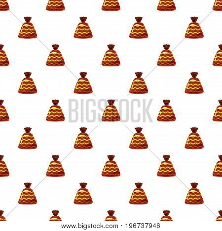 Chocolate candy pattern seamless repeat in cartoon style vector illustration