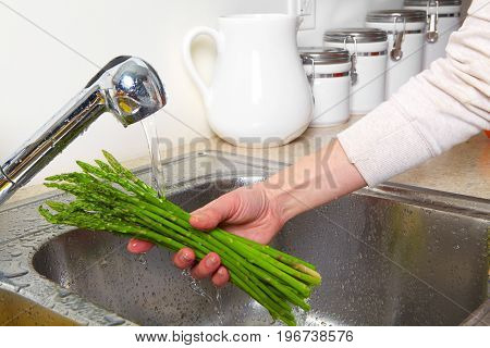 Asparagus In The Sink