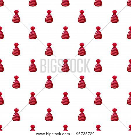Chocolate candy in red wrap con. Cartoon illustration of chocolate candy in red wrap vector pattern seamless repeat in cartoon style vector illustration
