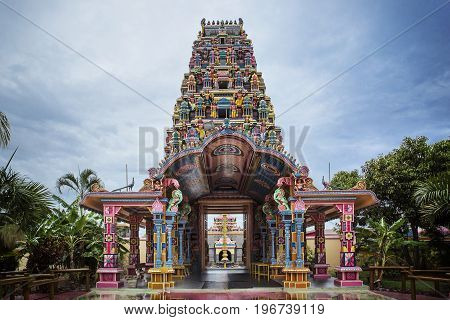 Famous Architectural and colorful temple in Mauritius