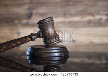 Gavel - auction and business concept. Place for text.