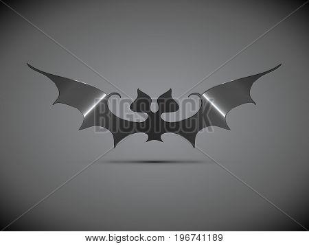 Steel Bat Halloween Logo