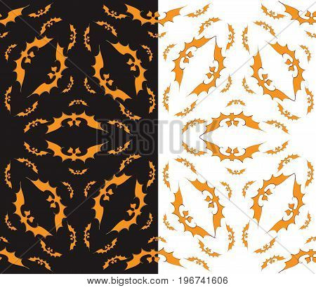 Halloween Bat Seamless Pattern