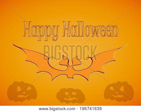 Halloween Bats Greetings Card