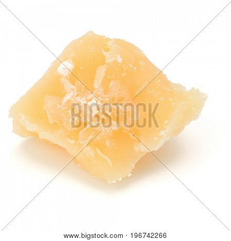 One parmesan cheese shred isolated on white background cutout