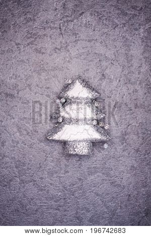 Christmas greeting card. Noel festive background. New year symbol. Christmas tree.. Copy space to your text.