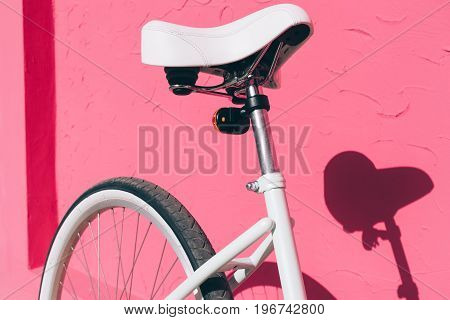 Close-up Of A Female City Bicycle Seat