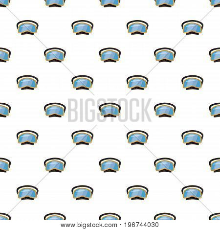 Diving mask pattern seamless repeat in cartoon style vector illustration