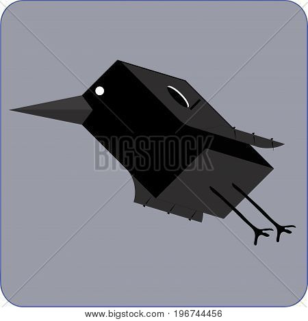 Graphic representation of a bird in motion