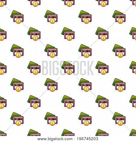 Business card pattern seamless repeat in cartoon style vector illustration