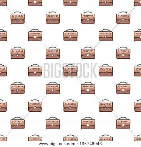 Briefcase pattern seamless repeat in cartoon style vector illustration