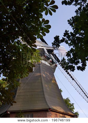 Picturesque view on Windmill in Meppen, Germany