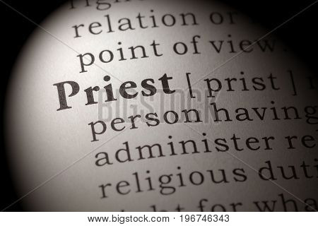 Fake Dictionary Dictionary definition of the word priest.
