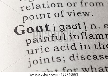 Fake Dictionary Dictionary definition of the word gout.