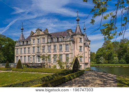Poeke Castle in Belgium - architecture background