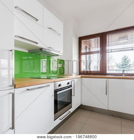 White Kitchen With Modern Cupboards