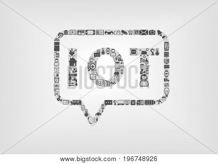 Internet of Things IOT logo and concept as vector illustration using flat design
