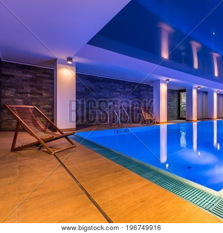 Luxurious Indoor Swimming Pool