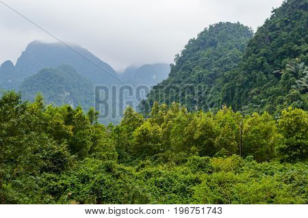 Beautiful View Of The Mountains Area In North Vietnam