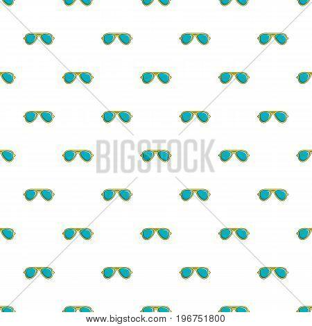 Blue sunglasses pattern seamless repeat in cartoon style vector illustration
