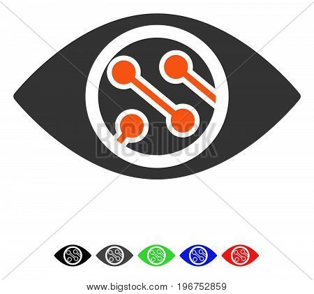 Smart Lens flat vector icon with colored versions. Color smart lens icon variants with black, gray, green, blue, red.