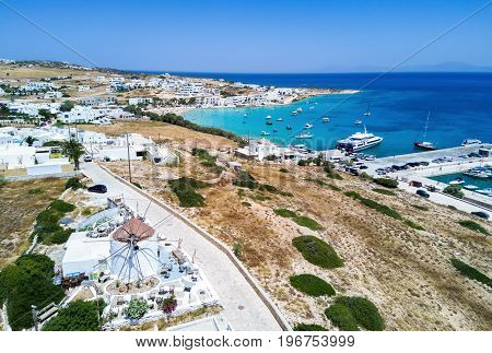 View of the town of Ano Koufonisi Island in the Little Cyclades, Greece