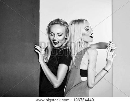 Girls Pose In Studio