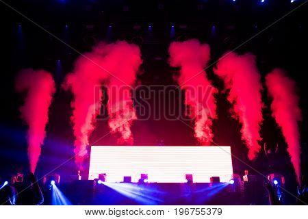 Dj Performs A Live Electronic Dance Music Concert